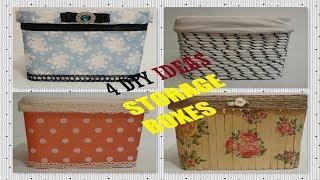 4 Amazing DIY Ideas |Storage organizer |Turn Plastic Boxes Into Baskets