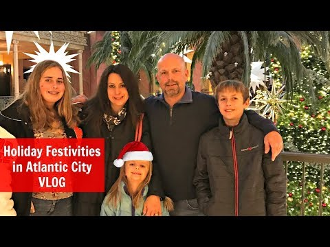 Holiday Festivities in Atlantic City Vlog