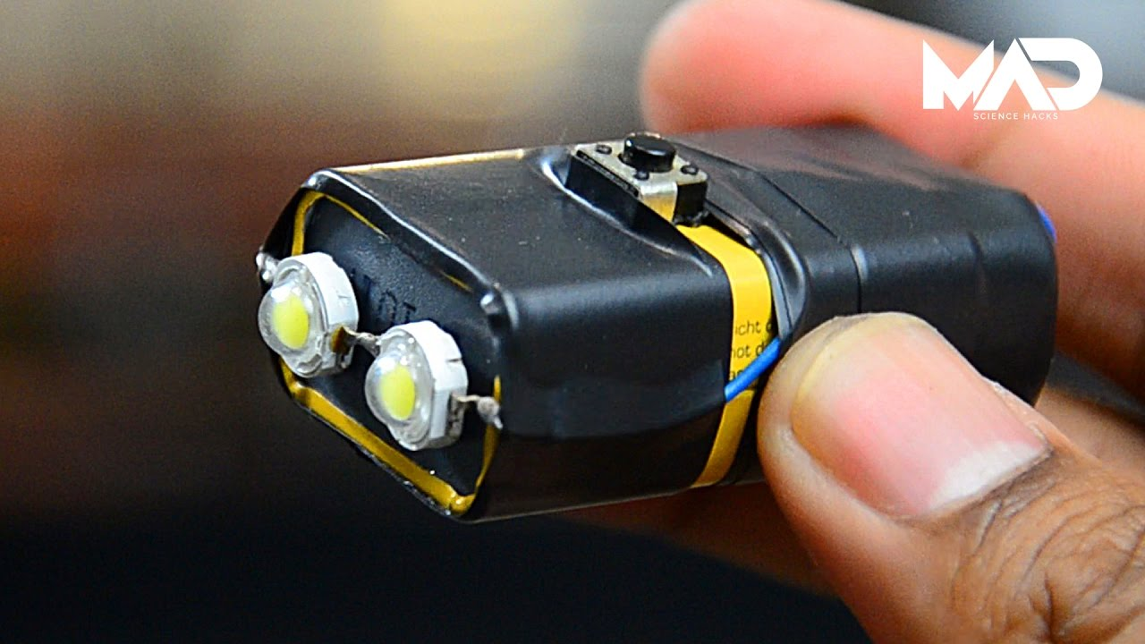 Ultra Bright Led Light From 9v Battery Simple Life Hacks Youtube How To Build Lamp