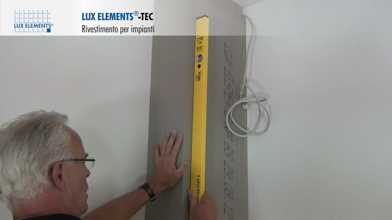 Montaggio lux elements rivestimento per tubi tec per piastrelle oppure intonaco youtube - Montaggio piastrelle ...