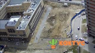 Мурино, падение крыши спортзала в строящейся школе