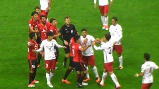 ACL 浦和VS上海上港 これはひどい。ボールを返さず攻め込む中国チーム ( 2017.10.18)