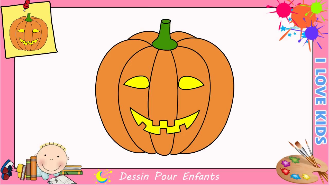 Comment dessiner une citrouille pour halloween facilement - Comment dessiner une sorciere facilement ...