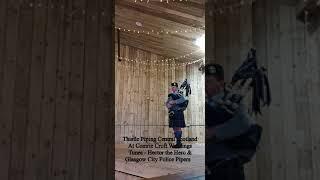 Wedding Bagpiper in Barn Venue - Plays Hector the Hero & jig