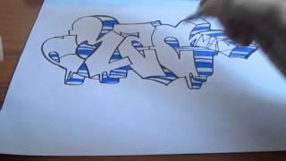Простое граффити на бумаге #4