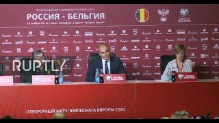 LIVE: Russia vs Belgium post-match press conference