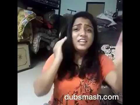 funny| comedy| whatsapp video-Marathi dubsmash kallulach( gadulach) pani creazy girl dance