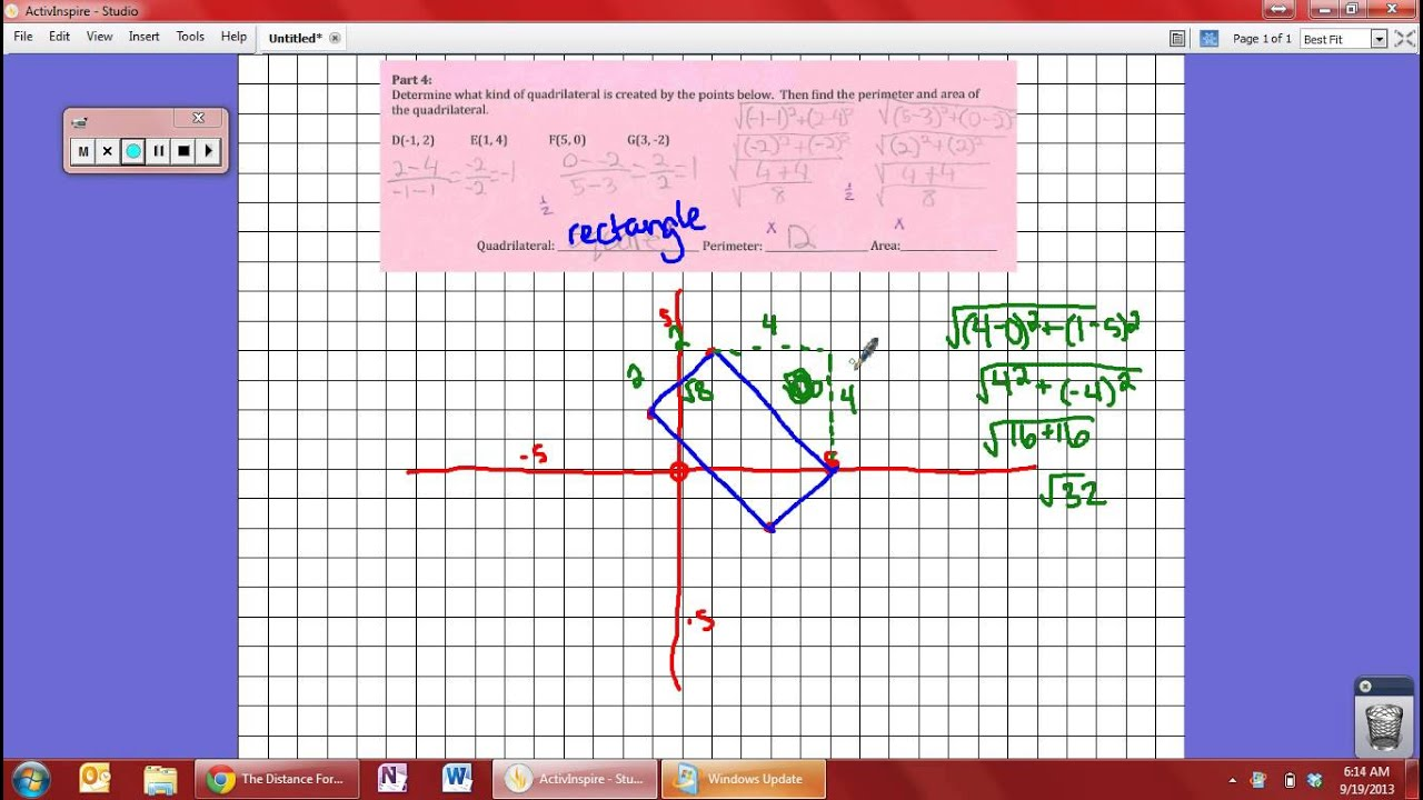 Help With Area And Perimeter From Points On A Graph How To Find The Area Of  A Rhombus