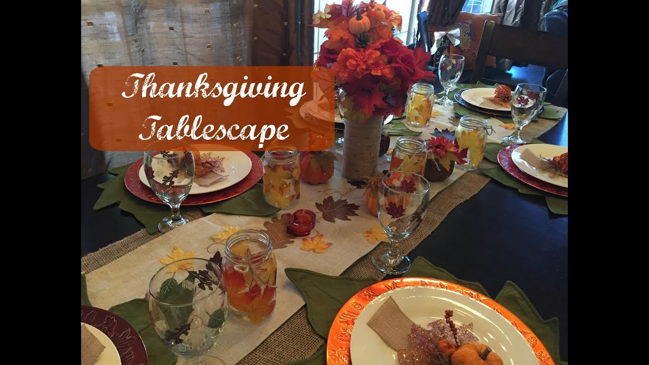 My thanksgiving tablescape dollar tree items youtube
