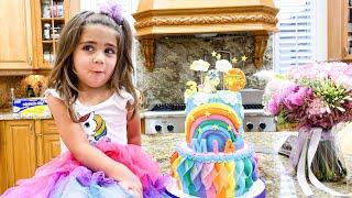 Feliz Aniversário Mia! Nastya e amigos dão presentes