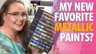 Unboxing New Metallic Watercolor Paints | Paul Rubens Glitter