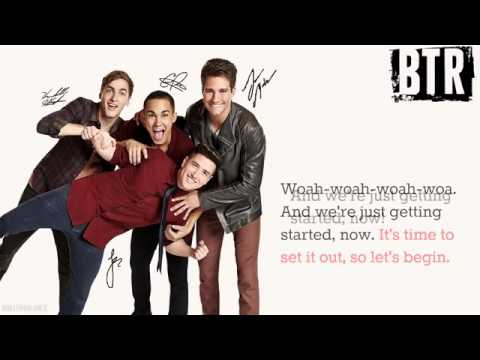 Big Time Rush-Just Getting Started [Lyrics]