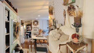 Fall Farmhouse Home Tour   Thrifty Farmhouse Decorated for Fall   Fall Decorating Ideas on a Budget