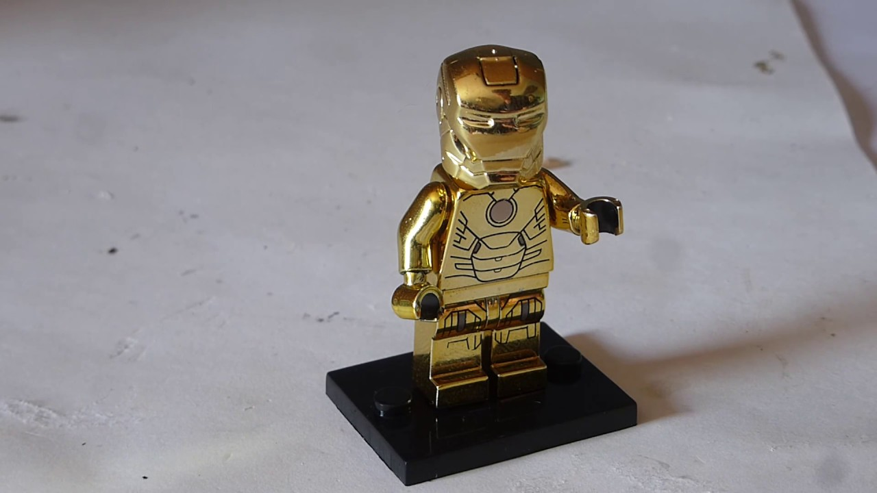 CHROME IRONMAN GOLD FIGURE USA SELLER NEW MINIFIGURES FITS LEGOS