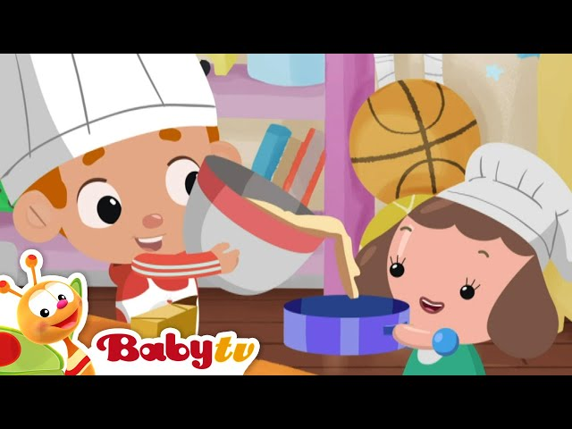 Pat A Cake 🎂🍰 (Remastered with Lyrics) | Nursery Rhymes & Songs for Kids | BabyTV