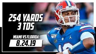 Feleipe Franks Full Highlights Florida vs Miami | 254 Yards, 3 Total TDs | 8.24.19