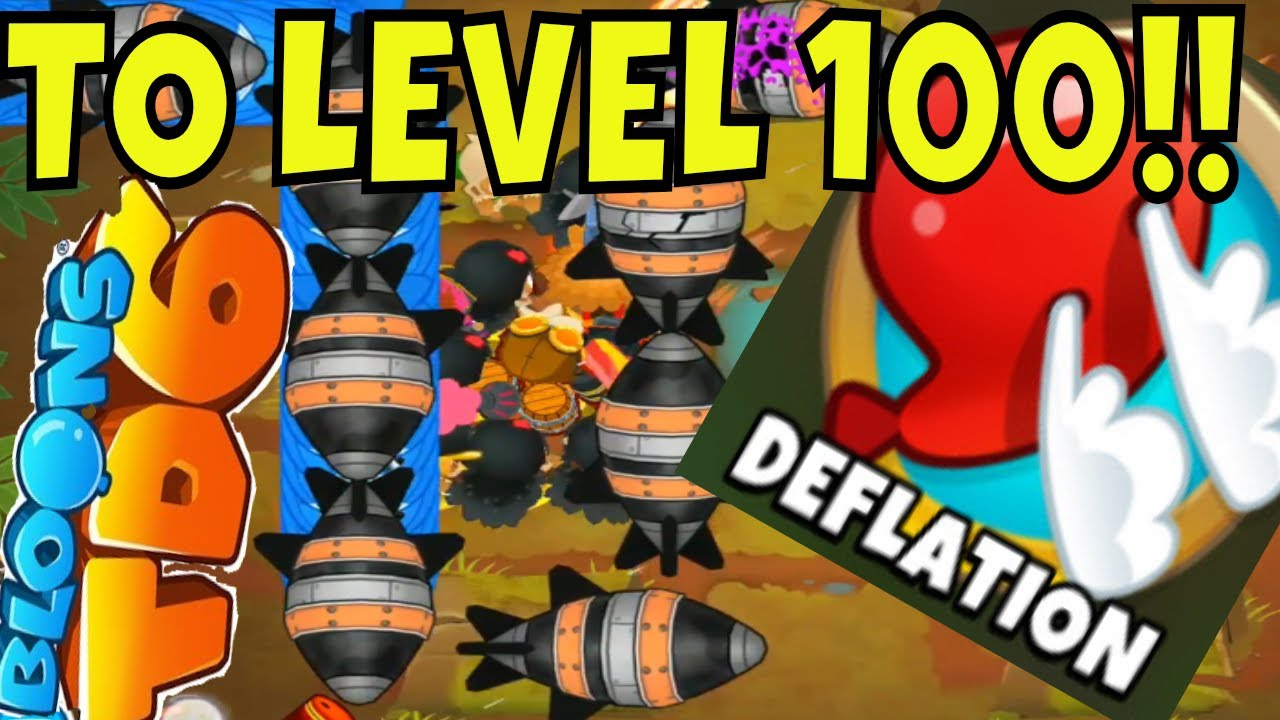 BLOONS TD 6 DEFLATION CHALLENGE TO LEVEL 100!!!