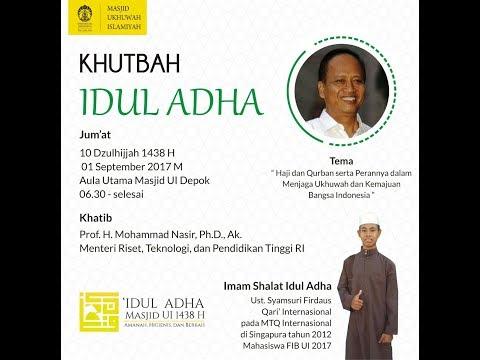 Pelaksanaan Shalat Idul Adha 1438 H di Masjid UI