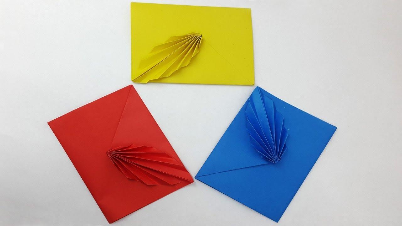 Envelope - origami | Origami envelope easy, Romantic diy gifts ... | 720x1280