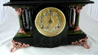 "Antique Seth Thomas ""niphon"" Adamantine Mantel Clock"