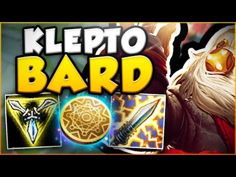 IS THIS TROLL OR GENIUS? TRIFORCE KLEPTO BARD! KLEPTO BARD TOP GAMEPLAY SEASON 8! League of Legends