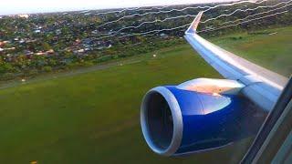 Condor Boeing 757-300 ENGINE VIEW POWERFUL Takeoff from Hamburg Airport!