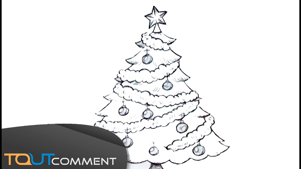Dessiner un arbre de no l youtube - Dessin sapin de noel facile ...