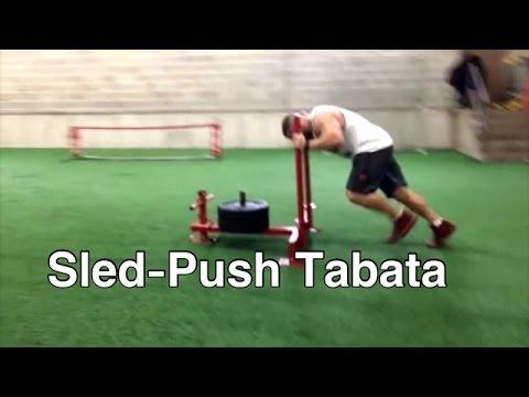 Sled Push Tabata | The Hardest Tabata I've Ever Done with Kami