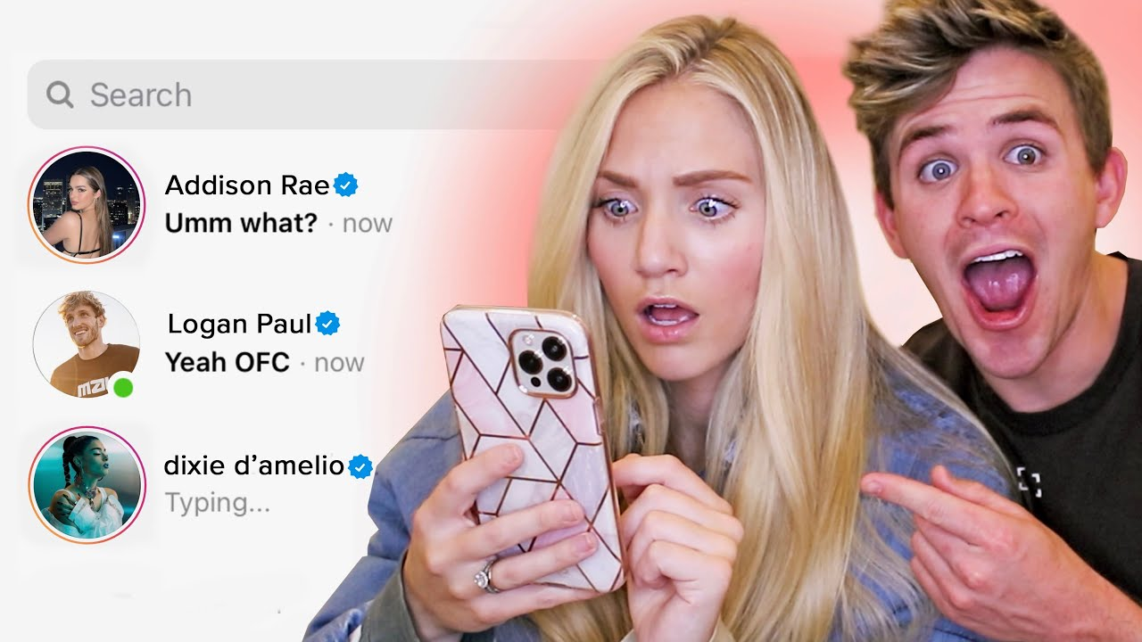 DM'ing 100 Tik Tok Celebrities To See Who Would Reply... (ft. Dixie D'Amelio & Addison Rae)