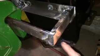 John Deere LT130 Suitcase Weight Rack Part 1.0