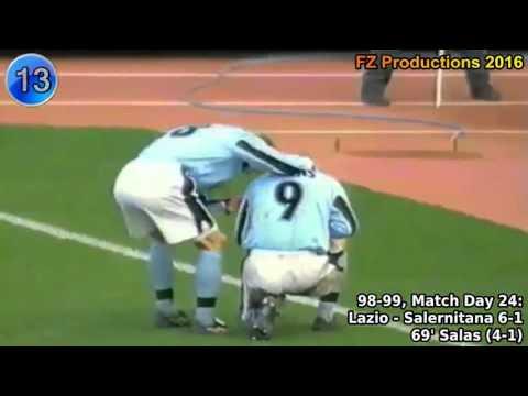 Marcelo Salas - 36 goals in Serie A (Lazio, Juventus 1998-2003)