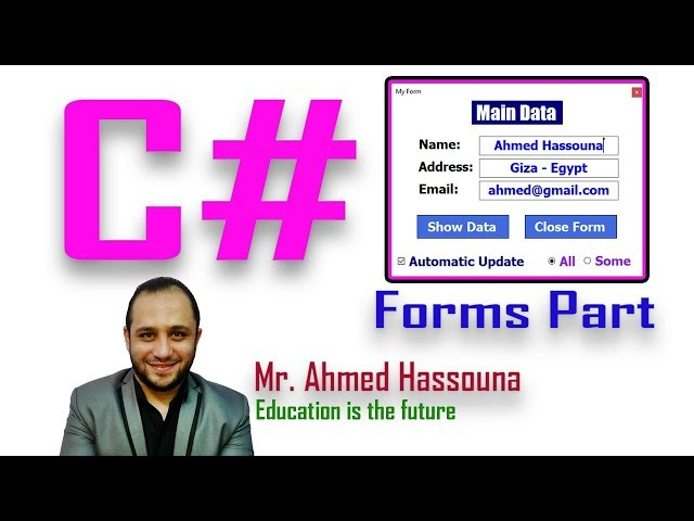 #123 C# Run Any Program Or Page Or Anything تشغيل برامج او صفح او اي شيء تعليم سي شارب