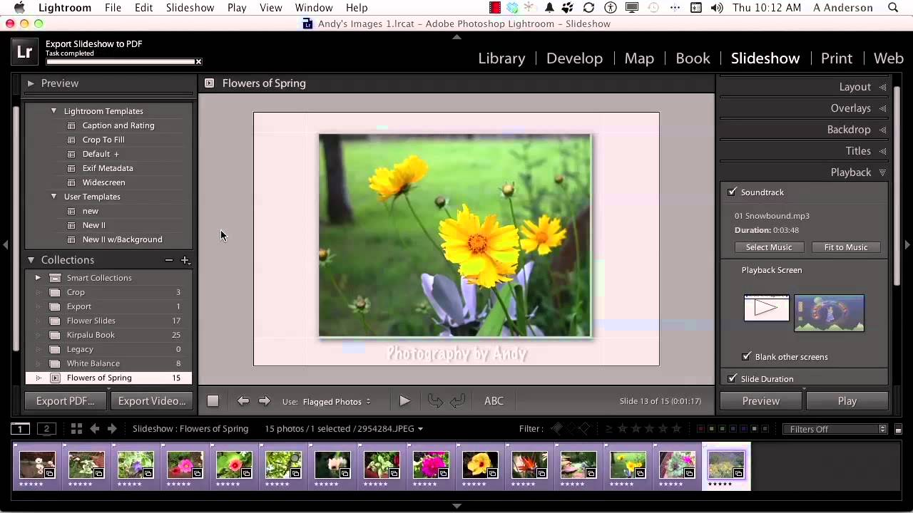 Adobe Photoshop Lightroom 4 Tutorial | Exporting Slideshows to PDF and Video