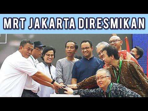 MRT Jakarta Diresmikan Jokowi