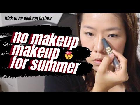 """No Makeup"" Makeup Tutorial Asian for Humid Weather | No Foundation | Katrine Zhang (Singapore)"