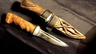 Кованные ножи из рессоры и напильника ,деревянные ножны DIY обзор и кое какие советы