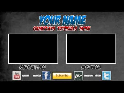 Free outro template 0005 2d paint net photoshop for Minecraft outro template movie maker