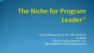 The Niche for Program Leader®