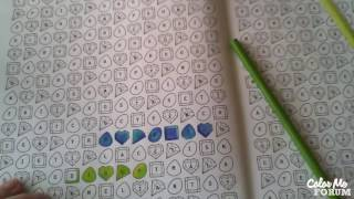Word Search And Color - Gemstone Party - Peridot