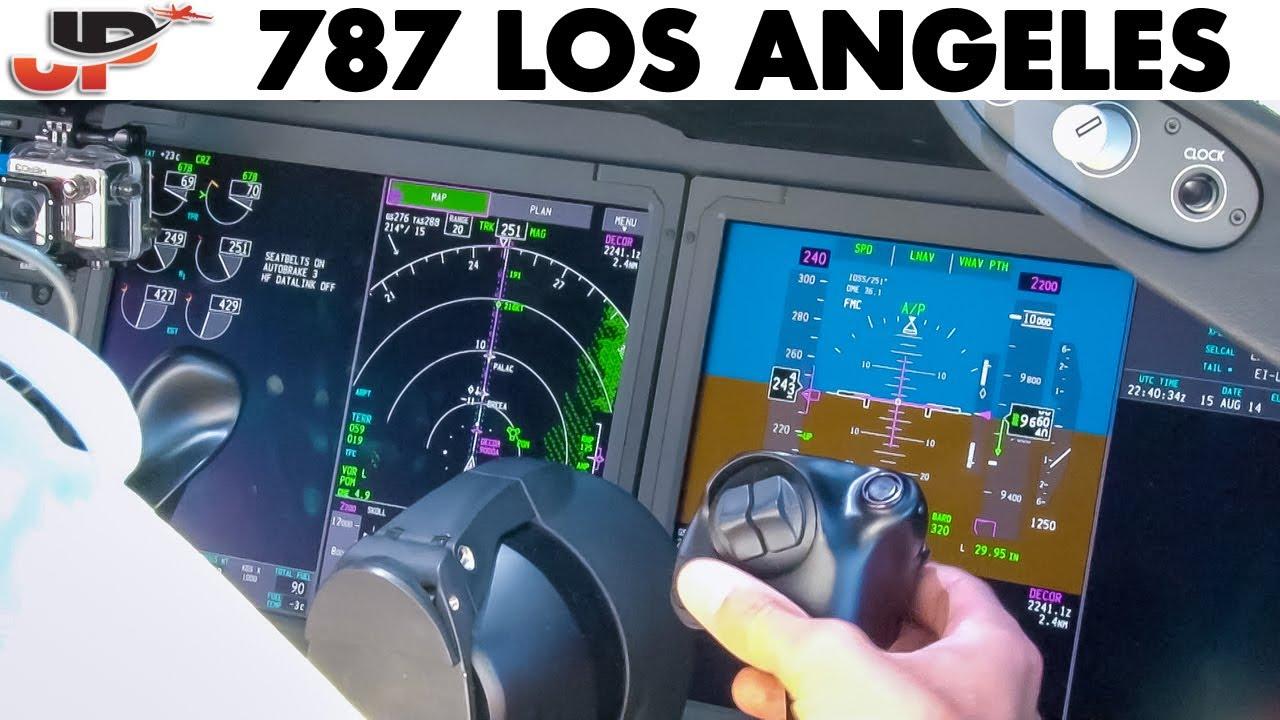 Piloting BOEING 787 into LAX Los Angeles | Cockpit Views