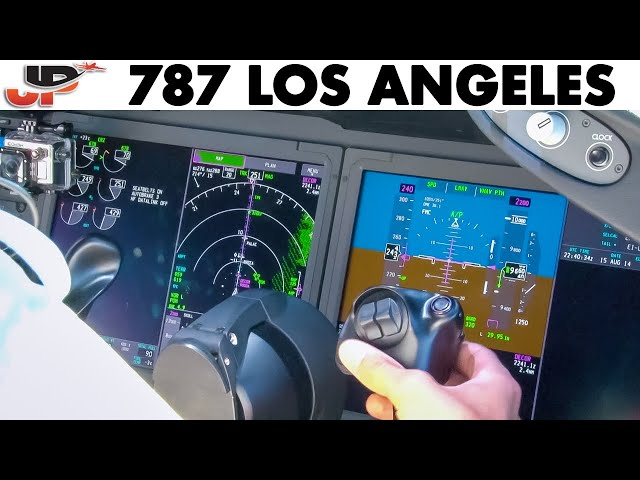 Piloting BOEING 787 into LAX Los Angeles | Cockpit Views