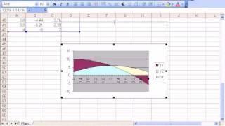 Excel 2003 hachurando (colorindo) área sob gráficos