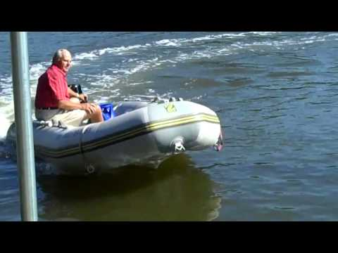 Marine Green propane outboard  under way