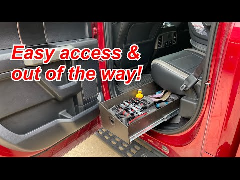 DIY F150 Hidden In-cab Drawers YOU CAN'T BUY For Only $100 In Materials! Patent Pending!