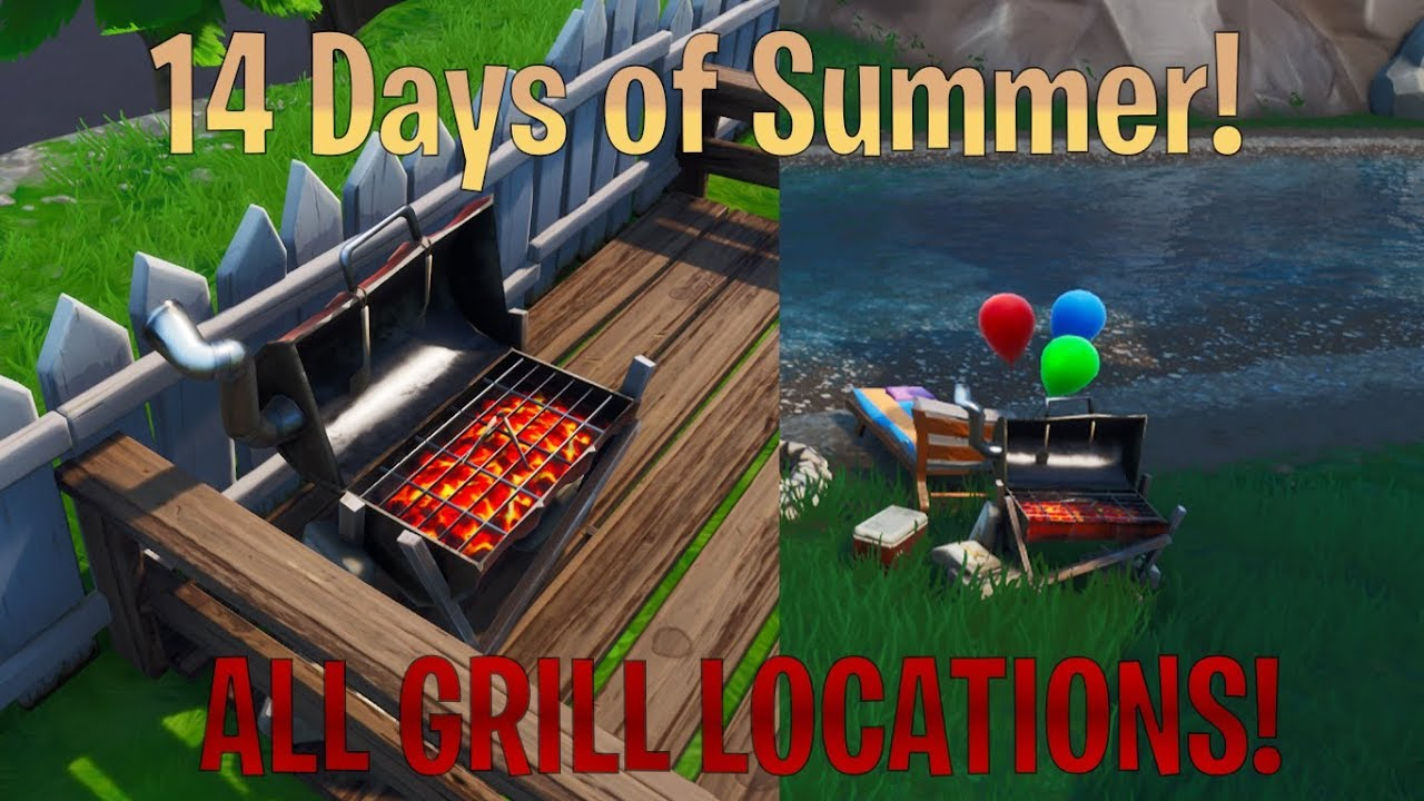 EVERY GRILL LOCATION IN FORTNITE! 14 Days of Summer Final ...