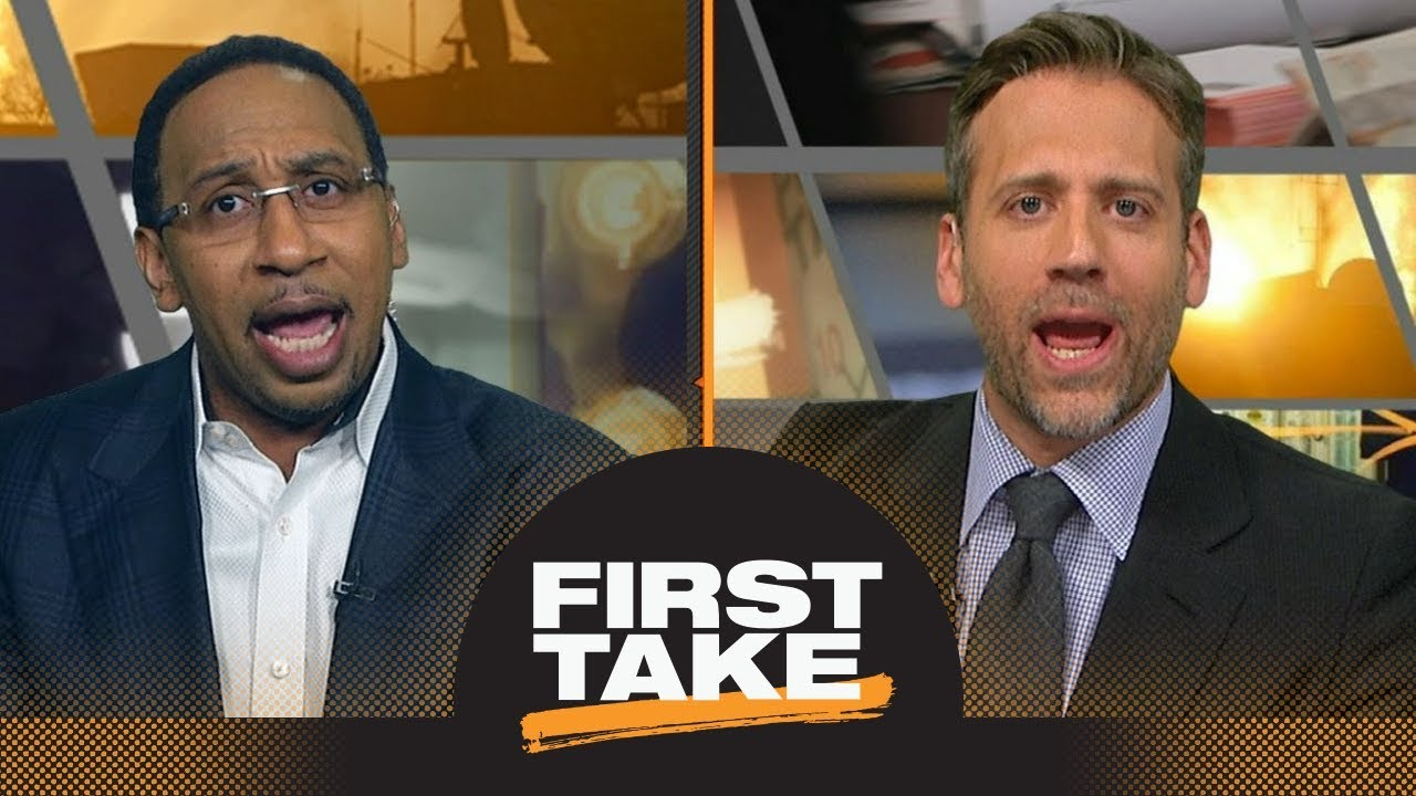 7404a4b4e307 First Take s heated NBA MVP debate after LeBron James says he d vote for  himself