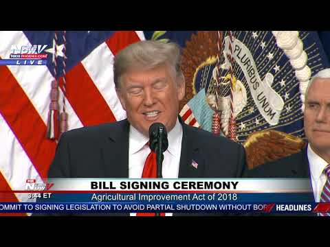 BILL SIGNING: President Trump Signs Farm Bill While Budget Battle Continues (FNN)