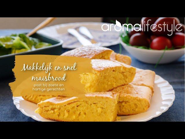 Makkelijk maisbrood, snel en kan ook glutenvrij.