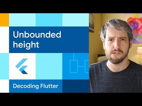 Unbounded height / width  | Decoding Flutter