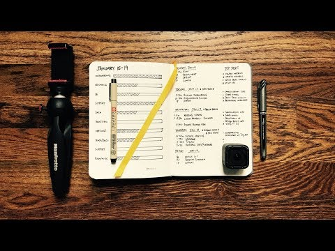 A Minimalist Bullet Journal Week: The 10 Blocks of Time [Productivity Planning]